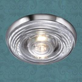 Влагозащищенный встраиваемый светильник Novotech 369812 Aqua (модерн, хром)