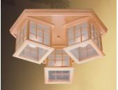Люстра потолочная Svetresurs/Светресурс 592-717-03 (японский стиль, дерево)