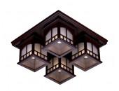 Люстра потолочная Svetresurs/Светресурс 513-727-04 (японский стиль, дерево)