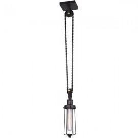 Люстра подвесная Lussole Loft LSP-9626 (кантри, черный)