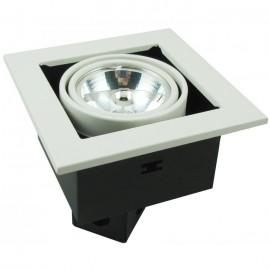 Встраиваемый светильник ArteLamp A5930PL-1WH (хай-тек, белый)