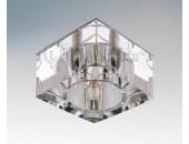 Точечный встраиваемый светильник Lightstar 004050 Qube Lt cr (модерн, прозрачный)