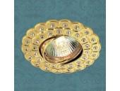 Точечный встраиваемый светильник Novotech 369823 Flower (модерн, золото)