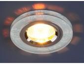 Точечный встраиваемый светильник Elektrostandard 8561/6 WH/CH (модерн, белый-хром)