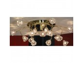 Люстра Lussole LSC-3013-15 Caserta (хай-тек, золото)