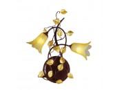 Бра Chiaro 343020702 Летиция (флористика, коричневый)