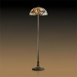 Торшер Odeon Light 2268/2F Flora (тиффани, коричневый)