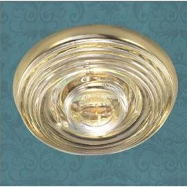 Влагозащищенный встраиваемый светильник Novotech 369814 Aqua (модерн, золото)
