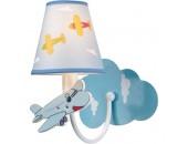 Светильник настенный самолет в облаках Snowlight 2808069/1W (детский, голубой)