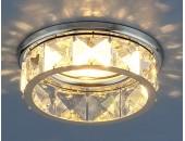 Точечный встраиваемый светильник Elektrostandard 7275 CH/CL (модерн, хром-прозрачный)