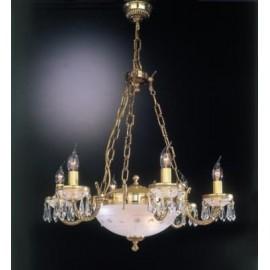 Люстра Reccagni Angelo L 4751/6+2 (классический, золото)