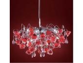 Люстра подвесная Citilux EL325P15.2 Eletto Rosa Rosso (флористика, хром)