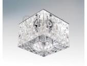 Точечный встраиваемый светильник Lightstar 004160 Bolla Cube cr (модерн, прозрачный)