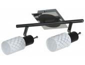 Светильник спот Lussole Aggius LSX-5601-02 (модерн, черный)