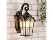 Уличный настенный светильник Elektrostandard Mira D (классический, черное золото)
