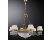 Люстра подвесная Reccagni Angelo L 6400/6+4 (классический, бронза)