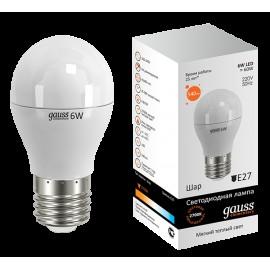 Светодиодная лампа Gauss Elementary LED 53216 6W E27 2700K