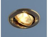 Точечный встраиваемый светильник Elektrostandard 104A CF GU/G (модерн, черный-золото)