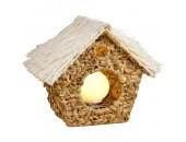 Настольная лампа домик Snowlight 2507846/1T (ротанг, кремовый)
