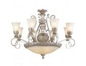 Люстра потолочная Chiaro 254011512 Версаче (классический, серебряный)