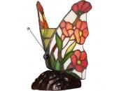 Настольная лампа бабочка Snowlight 1300270/1T (тиффани, бронза)