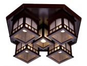 Люстра потолочная Svetresurs/Светресурс 513-727-05 (японский стиль, дерево)