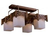 Люстра потолочная Svetresurs/Светресурс 559-707-04 (японский стиль, дерево)