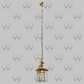 Светильник уличный подвесной Chiaro 802010101 Мидос (модерн, латунь)