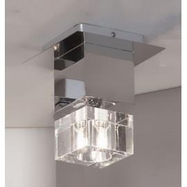 Светильник точечный накладной Lussole LSA-1307-01 Grosseto (модерн, хром)