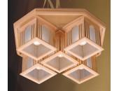 Люстра потолочная Svetresurs/Светресурс 595-717-05 (японский стиль, дерево)