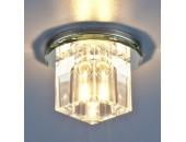 Точечный встраиваемый светильник Elektrostandard 8163 СH/CL (модерн, хром-прозрачный)