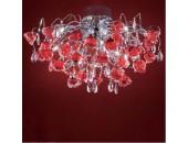 Люстра потолочная Citilux EL325C15.2 Eletto Rosa Rosso (флористика, хром)