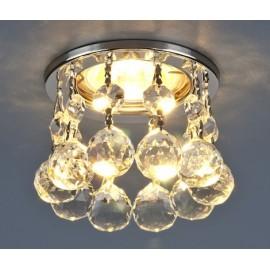 Точечный встраиваемый светильник Elektrostandard 2051-C CH/Clear (модерн, хром-прозрачный)
