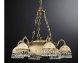 Люстра подвесная Reccagni Angelo L 6306/6+3 (классический, золото)