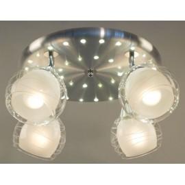 Люстра потолочная спот Citilux CL158142 Самба + LED (модерн, никель)