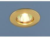 Точечный встраиваемый светильник Elektrostandard 601 G (модерн, золото)