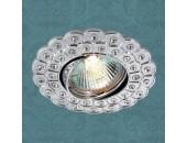 Точечный встраиваемый светильник Novotech 369822 Flower (модерн, хром)