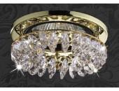 Точечный встраиваемый светильник Novotech 369334 Flame 1 (модерн, золото)