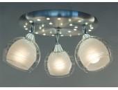 Люстра потолочная спот Citilux CL158132 Самба + LED (модерн, никель)