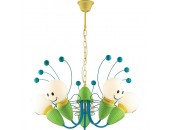 Люстра подвесная Odeon Light 2633/5 TROLO (детский, зеленый)