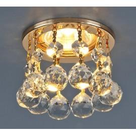 Точечный встраиваемый светильник Elektrostandard 2051-C FGD/Clear (модерн, золото-прозрачный)