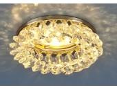Точечный встраиваемый светильник Elektrostandard 206 GD/CLEAR (модерн, золото-прозрачный)