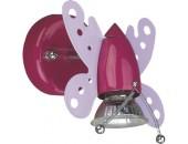 Светильник настенный бабочка Snowlight 2802003/1W (детский, розовый)