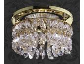 Точечный встраиваемый светильник Novotech 369335 Flame 2 (модерн, золото)
