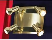 Светильник спот Lussole LSL-1401-04 Aprilia (модерн, золото)