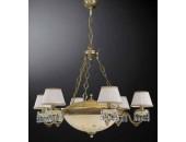 Люстра подвесная Reccagni Angelo L 6420/6+4 (классический, бронза)