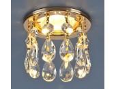 Точечный встраиваемый светильник Elektrostandard 2055 GD/WH (модерн, золото-прозрачный)