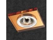 Точечный встраиваемый светильник Novotech 369754 Mirror (модерн, янтарный)