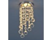 Точечный встраиваемый светильник Elektrostandard 205C C CH/WH (модерн, хром-прозрачный)