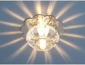 Точечный встраиваемый светильник Elektrostandard 847 CH/CL (модерн, хром-прозрачный)
